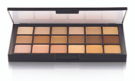 18 Color Global Matte HD Foundation Palette / 2.4oz./69gm., 18 Colors