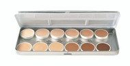 12 Color Essential Refillable Metal Palette / 1.8oz./51gm.