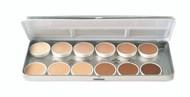 12 Color Essential Refillable Metal Palette / 1.8oz./51gm.