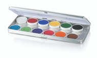 12 Color Master Magicake Aqua Color Refillable Palette / 1.69oz./48gm.