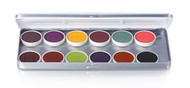 12 Color FX Magicake Aqua Color Refillable Palette / 1.69oz./48gm.