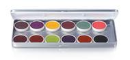 12 Color FX Magicake Aqua Color Refillable Palette / 1.69oz./48gm.