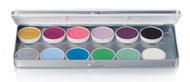 12 Color Fantasy Magicake Aqua Color Refillable Palette / 1.69oz./48gm.