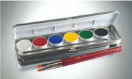 6 Color Primary Creme Refillable Metal Palette / .84oz./24gm.