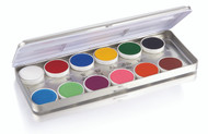 12 Color Master Creme Refillable Metal Palette / 1.69oz./48gm.
