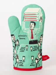 Pizza's Here Oven Mitt