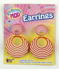 MOD ORANGE SWIRL EARRINGS