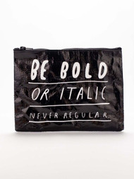 Italic or Bold Zipper Pouch