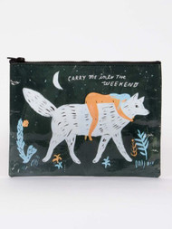 Carry Me Into the Weekend Zipper Pouch