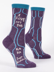 I Love My Job Crew Socks