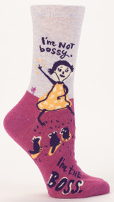 I'm Not Bossy Crew Socks