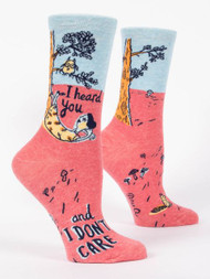 I Heard You Don't Care Crew Socks