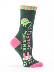 Less You More Me Crew Socks