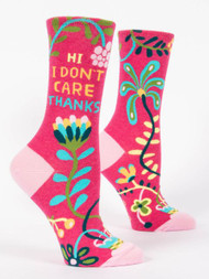 Hi. I Don't Care. Crew Socks