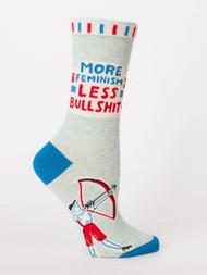 More Feminism Less Bullshit Crew Sock