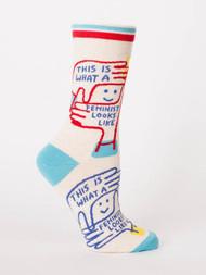 Feminist Looks Like Crew Sock