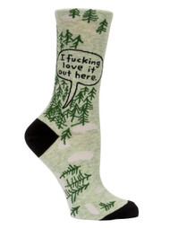 Fucking Love It-Woods Crew Socks