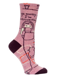 Go Away Introverting Crew Socks