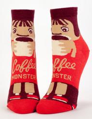 Coffee Monster Ankle Socks