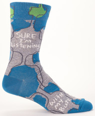 Sure I'm Listening Men's Socks