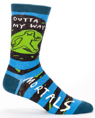 Outta My Way, Mortals   Men's Socks