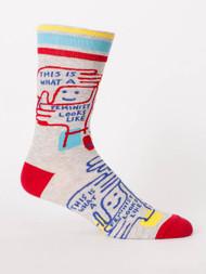 Feminist Looks Like Men's Sock