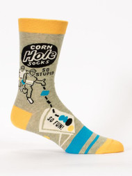 Cornhole Men's Sock