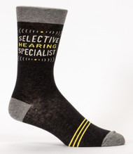 Selective Hearing Specialist Men's Sock
