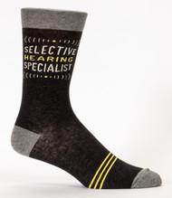 Selective Hearing Specialist Men's Sock