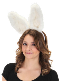 elope Bendy Bunny Ears Headband White