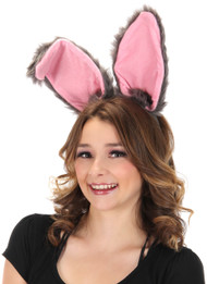 elope Bendy Bunny Ears Headband Gray
