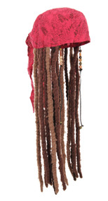 Disney Consumer Products Jack Sparrow Scarf with Attached Dreads+