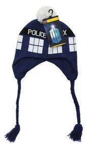 BBC TARDIS Knit Laplander Hat