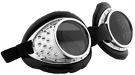 elope Radioactive Aviator Goggles Silver/Black