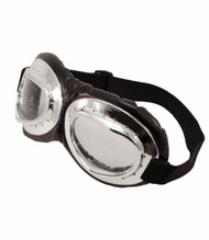 elope Aviator Goggles Black Silver/Clear