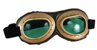 elope Aviator Goggles Brown Gold/Green