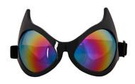 elope Cat Eye Goggles Rainbow