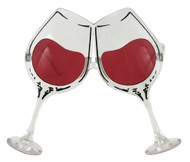 elope Wine Glasses Clear/Rose