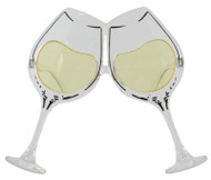 elope Wine Glasses Clear/Yellow