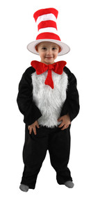 Dr. Seuss The Cat in the Hat Deluxe Costume Toddler 2T-4T