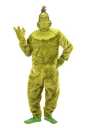 Dr. Seuss The Grinch Deluxe Jumpsuit Mens