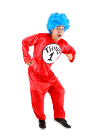 Dr. Seuss Thing 1&2 Costume Mens
