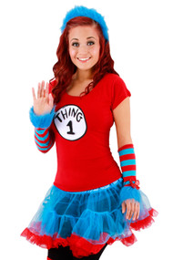 Dr. Seuss Thing 1&2 Tutu Costume Womens S/M