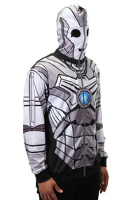 BBC Cyberman Full Zip-Up Hoodie Mens