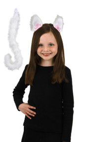 elope Cat Ears & Tail Kit White