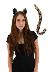 elope Cat Ears & Tail Kit Cheetah