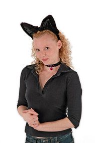 elope Cat Ears Headband Collar & Tail Kit Black