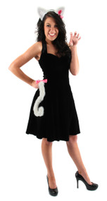 elope Cute Cat Ears Headband & Tail Kit White