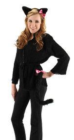 elope Cute Cat Ears Headband & Tail Kit Black