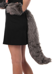 elope Deluxe Wolf Plush Tail
